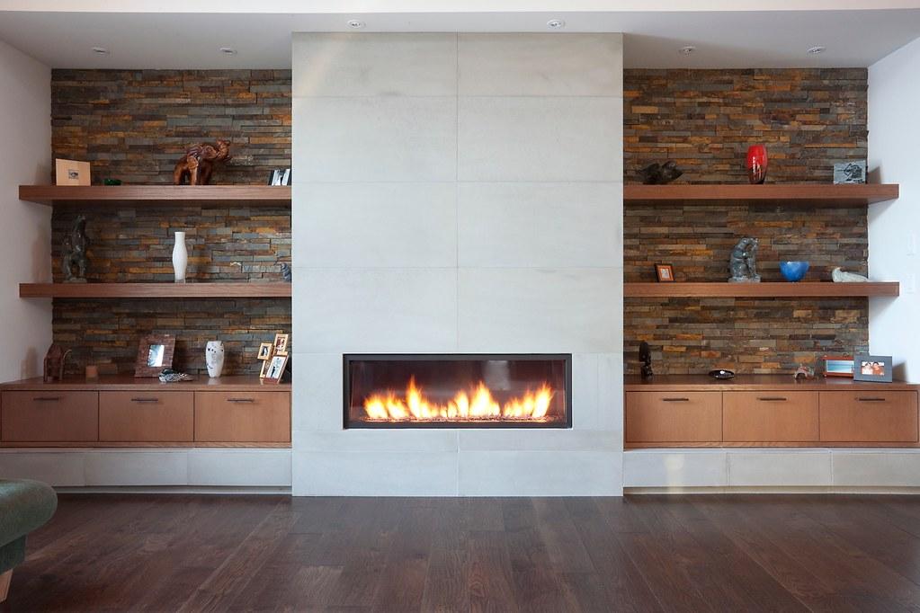 Tiled fireplace in halva - spectacular