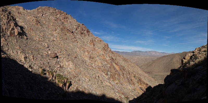 Panorama looking back down the canyon. Time to head back!