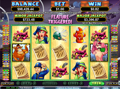 free Monster Mayhem free spins feature