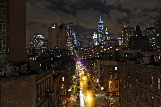 Manhattan at Night Including the Empire State Building