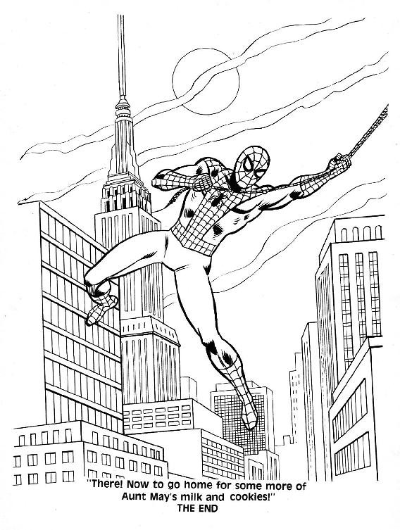 mysterio spiderman coloring pages - photo#29