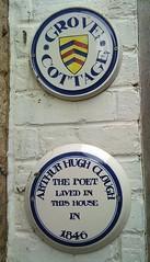Photo of Arthur Hugh Clough white plaque