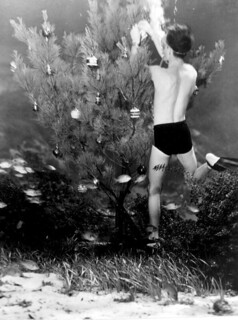 Bud Bassette Decorating Underwater Christmas Tree