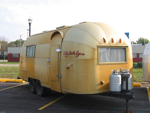 Airstream Factory  - Wally Byam gold airstream from Africa caravan