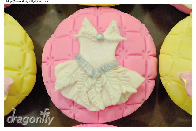 Shot of Swan's Lake Ballet Cupcake Imagem do Cupcake do Bal Lago dos
