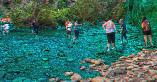 Anaglyph Zion Crossing 2