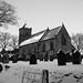 Easington Church - B&W - - 2010
