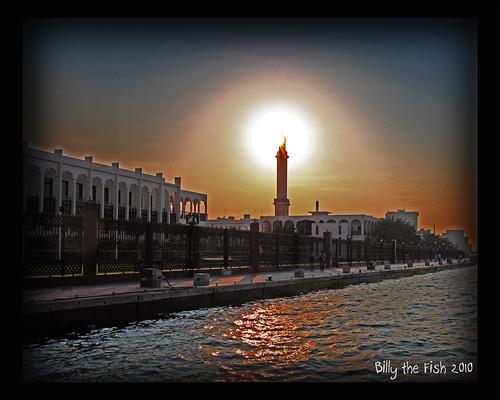 sunset sun creek dubai gulf uae middleeast emirates abra billyfish magicunicornverybest