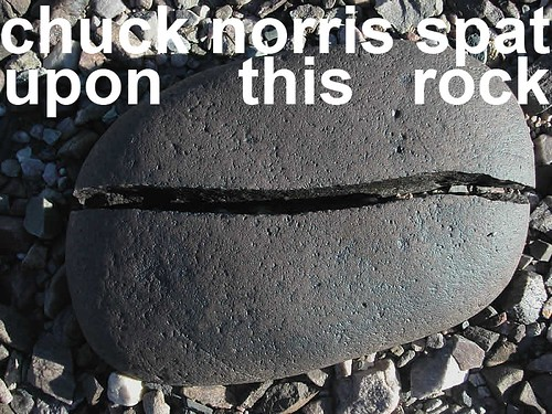 chuck norris spat upon this rock