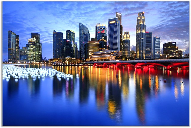 Singapore Countdown New Year Eve Cityscapes