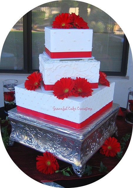 red and white square wedding cakes square and white wedding cake flickr photo 19094
