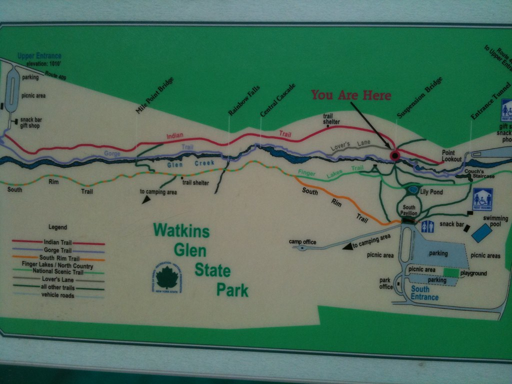Watkins Glen State Park New York Map Watkins Glen State Park Map | Gadgets 2018