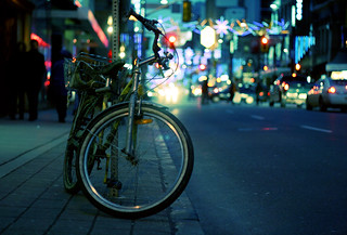 Bike on Yonge street in Toronto (Explored)