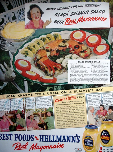 Hellmann 39 S Ad With Recipe For Glace Salmon Salad Flickr