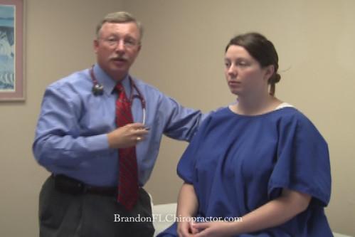 Brandon Chiropractor Dr. Steve Wilson Cervical Muscle Palpation