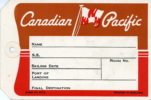 Canadian Pacific luggage tag front view