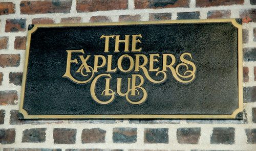 Explorers Club building sign