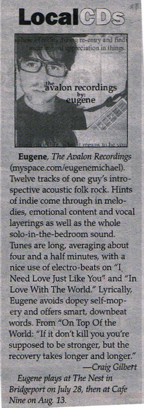 New Haven Advocate - July 2007 - eugene gallagher