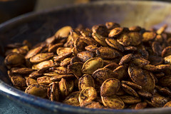 Homemade Roasted Spicy Pumpkin Seeds