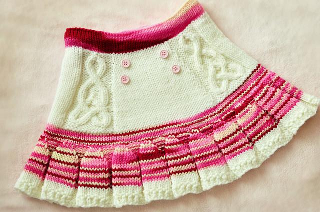 knit toddler valentine pleated skirt Flickr - Photo Sharing!