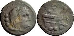 97/13c Luceria L Quadrans. Italian civic mint. ooo / Hercules, club; ROMA / Prow, style as LT or Mercury issues / L / ooo. RR 8g91
