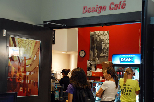 Warm up with a coffee or cappuccino made fresh at the Design Cafe