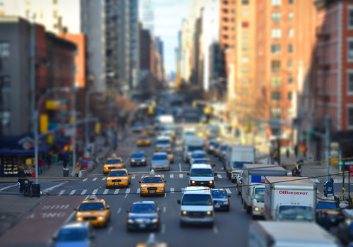 Tilt-shifted avenue