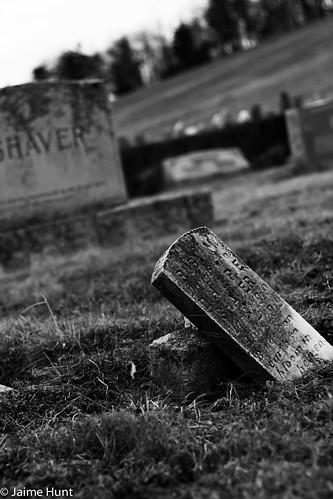 Shaver headstone