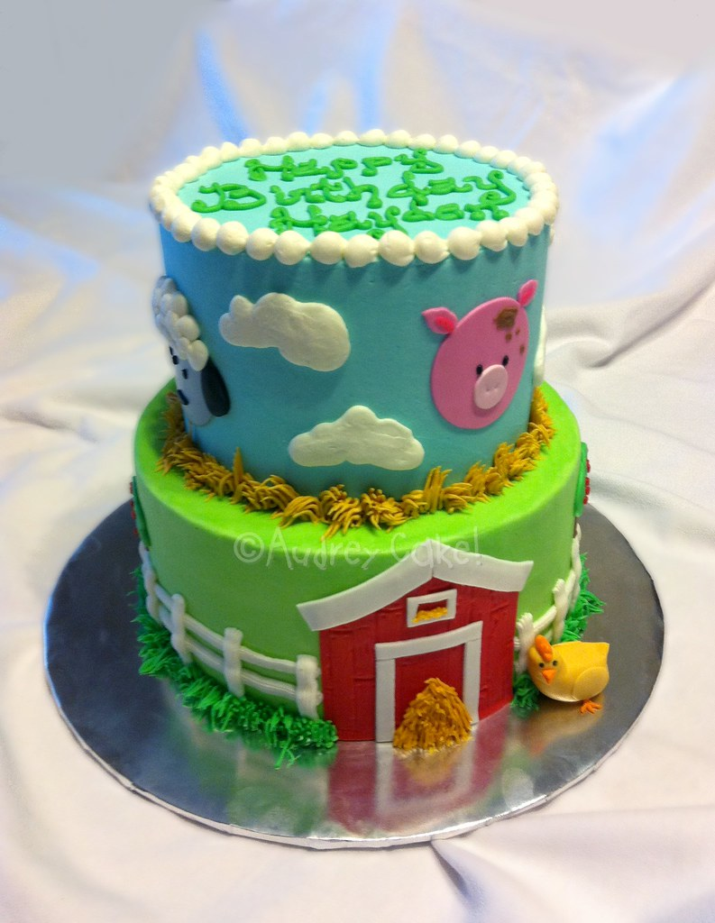 Surprising Barnyard Birthday Cake Down On The Farm Theres Cake For Flickr Funny Birthday Cards Online Inifodamsfinfo