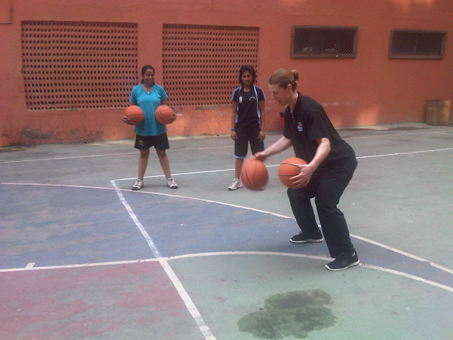 Women's Empowerment Basketball Clinic - SportsUnited Sports Envoys in Mumbai
