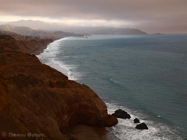 Pacifica Coastline seen from Mussel Rock Park, 2010