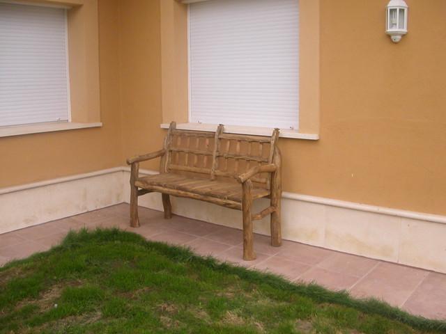 Muebles rústicos para el jardín  Flickr  Photo Sharing!