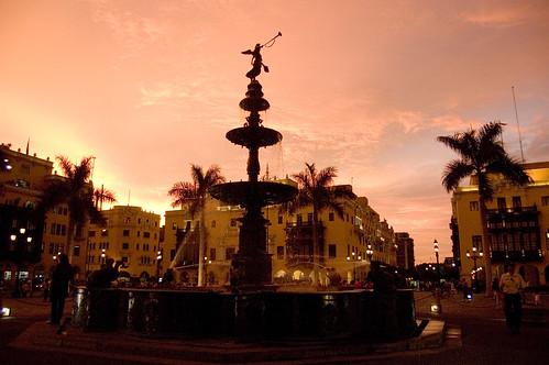 Plaza Del Armas in Lima Peru