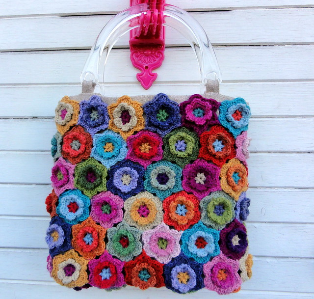 Flower Crochet Bag : Crochet Flower Bag Flickr - Photo Sharing!