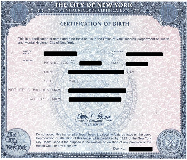 certificate birth nyc records certificates death state example registered ma marriage phone appears