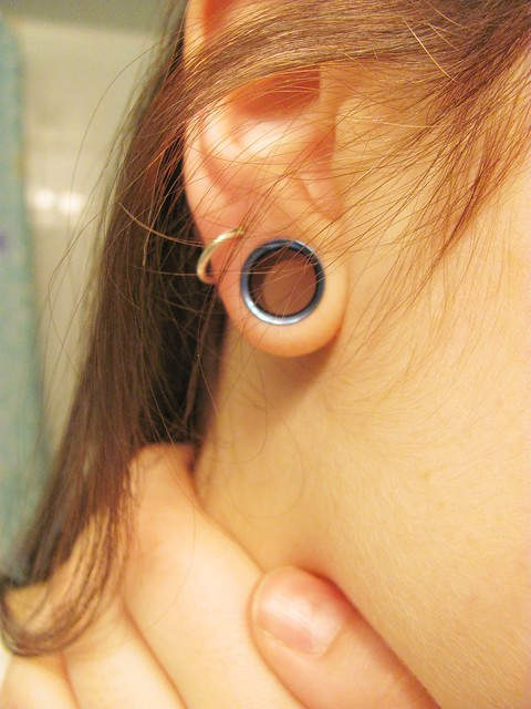 291/365 -- 00g tunnels | Lately I have neglected my 365 ... Ear Stretchers 10mm
