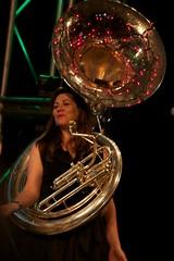 tuba(0.0), trumpet(0.0), trombone(0.0), horn(0.0), drums(0.0), sousaphone(1.0), musical instrument(1.0), brass instrument(1.0),
