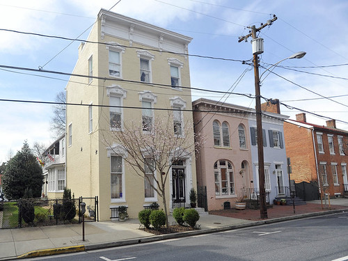 Rowhouses in Frederick, Maryland