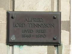 Photo of Alfred Tennyson bronze plaque