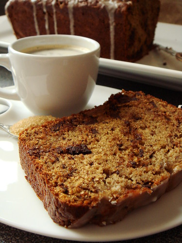 Lemony Olive Oil Banana Bread with Chocolate Chips