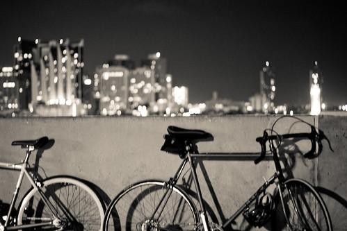 bikes over city