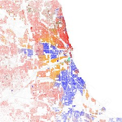 Race and ethnicity 2010: Chicago Map Courtesy of Eric Fisher