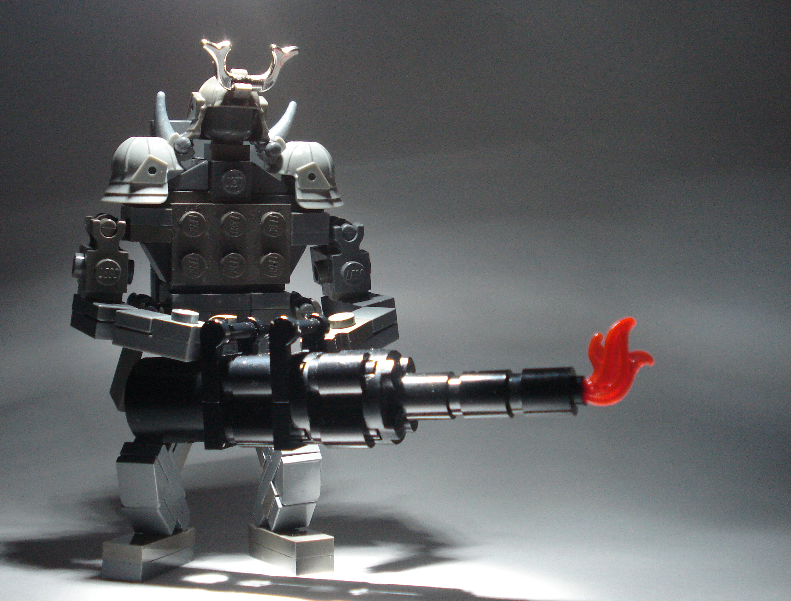Robo-Samurai with a Minigun