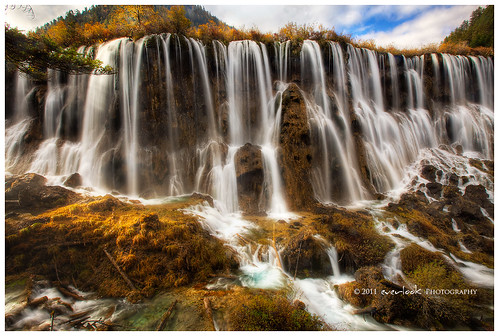 china landscape photography waterfall exposure valley sichuan hdr province blend rize everlook nuorilang