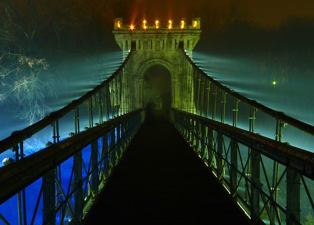 Mystical bridge in Romîneşti, Dolj County, Romania photo