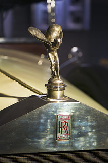"Museum of Automobile History. Rolls-Royce Silver Ghost mascot  ""The Spirit of Ecstasy"". 1922. Salamanca. Castilla y León. Spain"