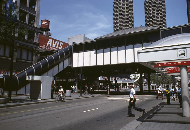 Elevated Station over State Street at Lake Street