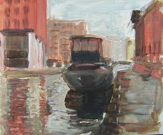 Leeds Canal painted on the spot