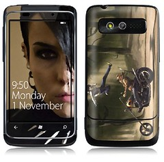My custom Lisbeth Sallander GelaSkin for HTC 7 Trophy