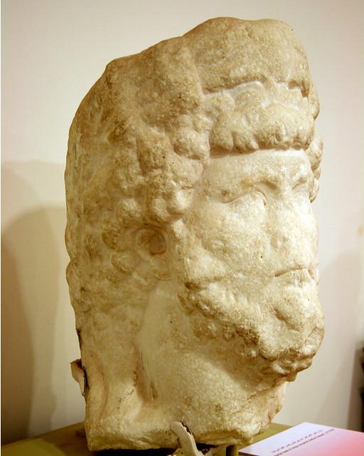 Head of the Roman Caesar Aelius, Petra Archaeological Museum, Jordan